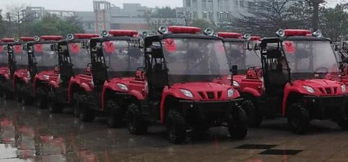 Linhai UTV pro záchranné složky v čínském Guangzhou